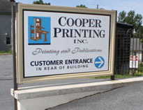 Cooper Printing Sign
